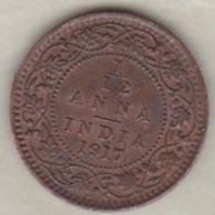 Inde  1/12 Anna 1917 , George V .Bronze .KM# 509 - India