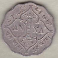 Inde  1 Anna 1936 , George V . Copper-Nickel. KM# 513 - Inde
