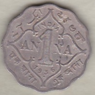 Inde  1 Anna 1936 , George V . Copper-Nickel. KM# 513 - India