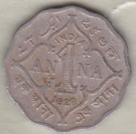 Inde  1 Anna 1928 , George V . Copper-Nickel. KM# 513 - Inde