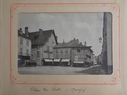 MARCIGNY PHOTO AUTHENTIQUE ANCIENNE : PLACE DES HALLES - France