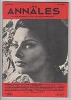 LES ANNALES 07 1961 - CLAUDE LEVI-STRAUSS ETHNOLOGIE - SOPHIA LOREN - ROMAN FEMININLES GUIDES BLEUS - TELEVISION - - Journaux - Quotidiens