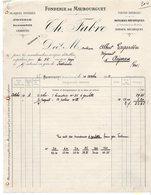 65  MAUBOURGUET  PLAQUES FOYERES  POTERIE BUANDERIE CHARRUES   CH FABRE   -   FACTURE 1912 - Landbouw