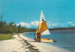 Mauritius - Ile Maurice - Beach - Sailingship - Nice Stamp - Mauritius