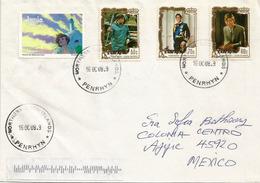 Ile De L'atoll De Penrhyn Océanie.  (groupe Des Iles De Cook Islands) Adressée Au Mexique. Photos Recto & Verso - Penrhyn