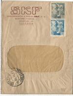 VALENCIA  1943 CC CON MAT URGENTE Y ESTAFETA DE CAMBIO MARCA DE CENSURA - Águilas & Aves De Presa