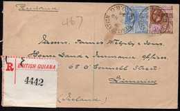 British Guiana To Ireland Registered Cover 1924 - Brits-Guiana (...-1966)