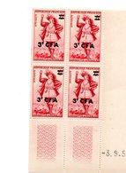 COINS DATES SURCHARGE GARGANTUA FRANCE CFA REUNION - Réunion (1852-1975)