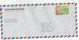 JAPAN Shinko MUSIC Pub Co COVER Air Mail To GB , Stamps - 1989-... Emperor Akihito (Heisei Era)