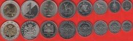 Georgia Set Of 8 Coins: 1 Tetri - 2 Lari 1993-2006 UNC - Géorgie