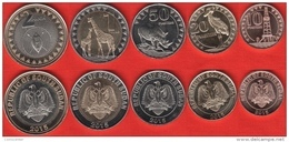 South Sudan Set Of 5 Coins: 10 Piasters - 2 Pounds 2015 UNC - Monete