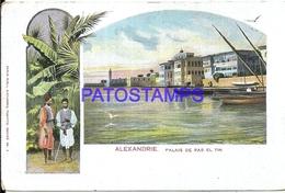95273 AFRICA EGYPT ALEXANDRIE PALACE DE RAS EL TIN CIRCULATED TO FRANCE POSTAL POSTCARD - Somalia