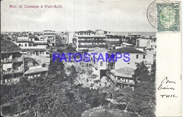 95274 AFRICA EGYPT PORT SAID STREET LESSEPS CIRCULATED TO FRANCE POSTAL POSTCARD - Somalia