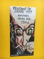 8463 - Pascal Rabaté Grand Prix De La Ville De Sierre  Festival BD'97 Sierre Fendant Rouvinez Suisse - Bande Dessinée