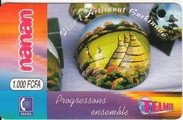 "BURKINA FASO - Vive L""Artisanat Burkinabe, Telemob By Onatel Prepaid Card 1000 FCFA(*100*), No Exp.date, Used - Burkina Faso"