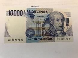 Italy Volta Uncirculated Banknote 10000 Lira 1984 #21 - [ 2] 1946-… : Républic
