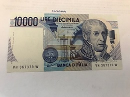Italy Volta Uncirculated Banknote 10000 Lira 1984 #21 - [ 2] 1946-… Republik