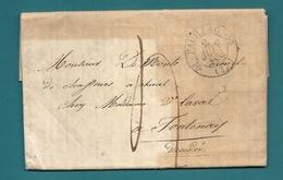 Gironde - Pauillac Pour Un Colonel De Chasseurs à Cheval à Fontenay (Vendée) - Postmark Collection (Covers)