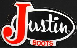 Publicité > Autocollant Pour JUSTIN BOOTS - TBE - Stickers