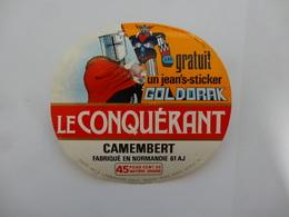 ETIQUETTE FROMAGE  CAMEMBERT LE CONQUERANT . GOLDORAK - Cheese
