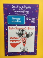 8468 - Morges-Sous-Rire Festival International D'humour 1990 - Humour
