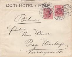 Deutsches Reich  Brief 1914 Domhotel - Germany