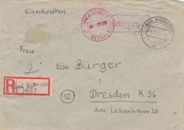 Lokale Not Ganzsache R Brief Gebuhr Bezahlt 1945 Handschriftlich 12+30 - Germany