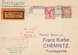 Deutsches Reich Luftpost Postkarte 1926 - Germany