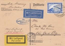 Deutsches Reich Zeppelin Postkarte 1928 Lz 127 - Germany
