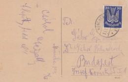 Deutsches Reich Luftpost Postkarte 1925 - Germany