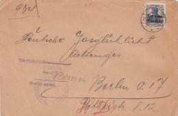 Deutsches Reich General Gouvernement Brief 1917 - Occupation