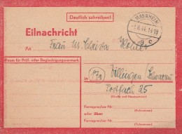 Deutsches Reich Eil Nachricht Postkarte 1944 - Germany