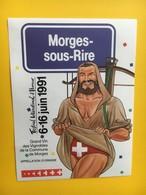 8470 - Morges-Sous-Rire Festival International D'humour 1991 700e Ann. Confédération - Humour