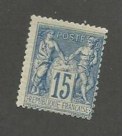 FRANCE - N°YT 90 NEUF** SANS CHARNIERE AVEC GOMME NON ORIGINALE (GNO) - COTE YT : 60€ - 1878 - 1876-1898 Sage (Type II)