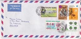 AIRMAIL CIRCULEE KENYA TO IRELAND. OBLIT NAIROBI 1975 - BLEUP - Kenia (1963-...)