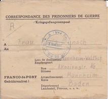 Kriegsgefangenenpost POW Pas De Calais Depot De PG No. 11 Nach Mannheim - 1946 (35482) - France