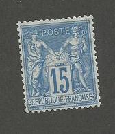 FRANCE - N°YT 90a) BLEU/BLEU NEUF** SANS CHARNIERE AVEC GOMME NON ORIGINALE (GNO) - COTE YT : 700€ - 1878 - 1876-1898 Sage (Type II)