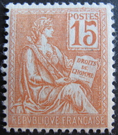 R1752/490 - 1900 - TYPE MOUCHON - N°117 NEUF* - 1900-02 Mouchon
