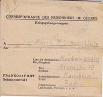 Kriegsgefangenenpost POW Pas De Calais Depot De PG No. 11 Nach Mannheim - 1946 (35483) - France