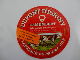 ETIQUETTE FROMAGE  CAMEMBERT DUPONT D ISIGNY - Cheese