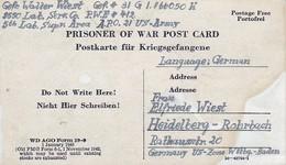 Kriegsgefangenenpost POW Lab. Serv. Co. PWE #412 Nach Heidelberg - 1946 (35485) - American,British And Russian Zone