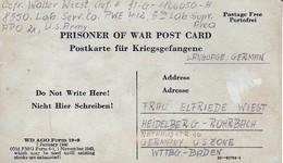 Kriegsgefangenenpost POW Lab. Serv. Co. PWE #412 Nach Heidelberg - 1946 (35486) - American,British And Russian Zone