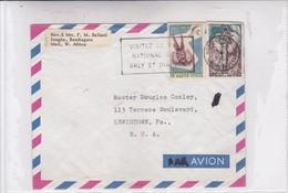 AIRMAIL CIRCULEE HAUTE VOLTA TO EUA 1962 - BLEUP - Burkina Faso (1984-...)