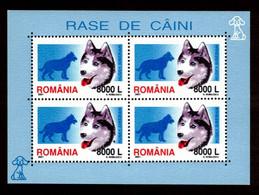 ROMANIA, 2001, DOGS, 4 BLOCKS, CHIENS - 1948-.... Republics