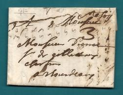 """Gironde - Ste Foy Pour Bordeaux. LAC De 1732. Marque Manuscrite """"Ste Foy"""". LAC Ecrite Au FLEIX (Dordogne) - Postmark Collection (Covers)"""