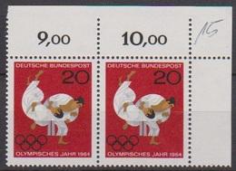 BRD 1964 MiNr.451 Paar Bogenecke ** Postfr. Olympische Sommerspiele, Tokio ( 7130 ) Günstige Versandkosten - Unused Stamps