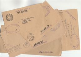 1979 - 1987 BARBADOS  5 X OHMS COVERS To Germany Cover - Barbades (1966-...)