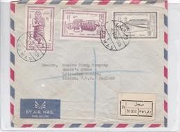 AIRMAIL CIRCULEE REUBLIQUE ARABE UNIE TO ENGLAND. OBLIT DAMAS 1968. RECOMMANDE - BLEUP - Postzegels