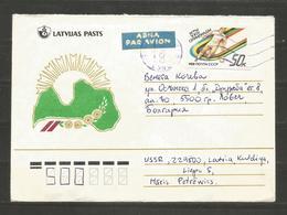 LATVIJA - INTERESTING COVER Traveled To BULGARIA   - D 2451 - Lettonia