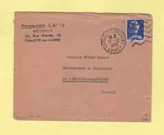 Daguin - Boynes - Loiret - 5 Lignes Ondulees Flamme à Droite - 1958 - Postmark Collection (Covers)